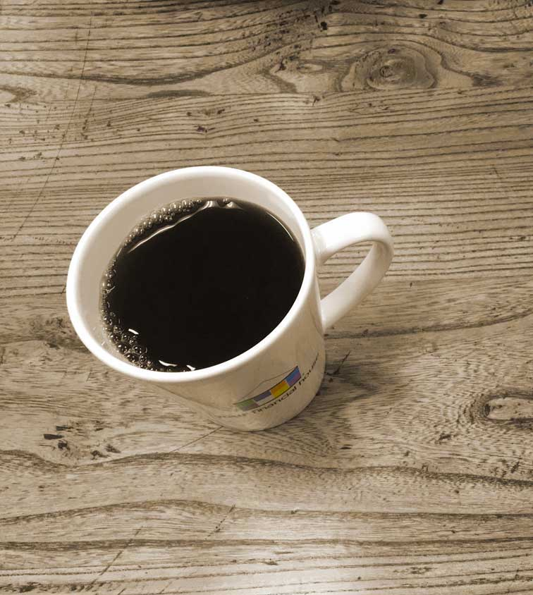 your financial house coffee cup