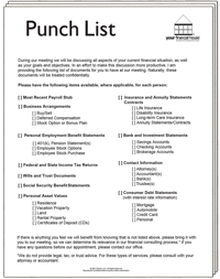 Your Financial House Punchlist
